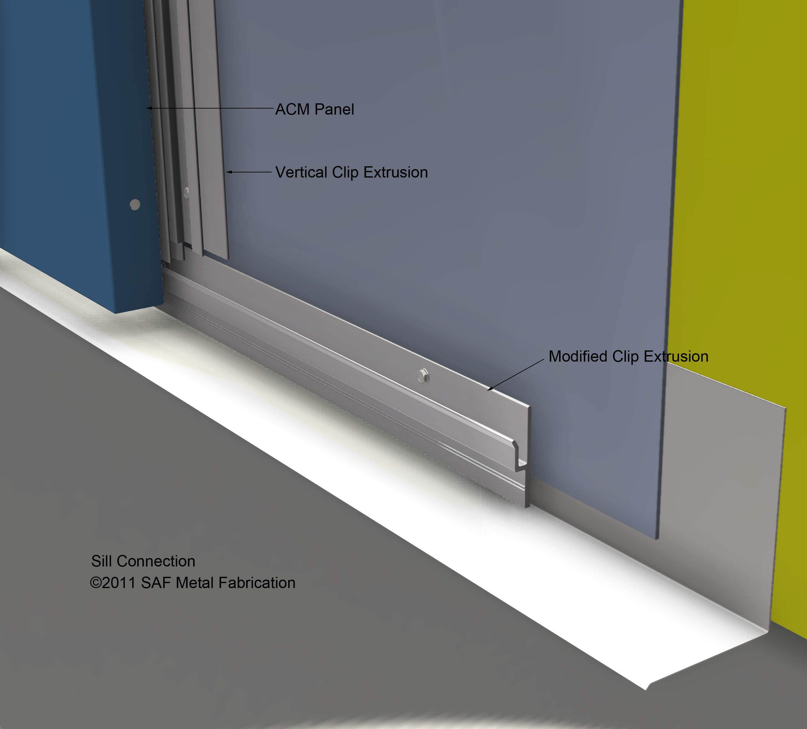 Aluminum Wall System : Series m rainscreen drained back ventilated saf