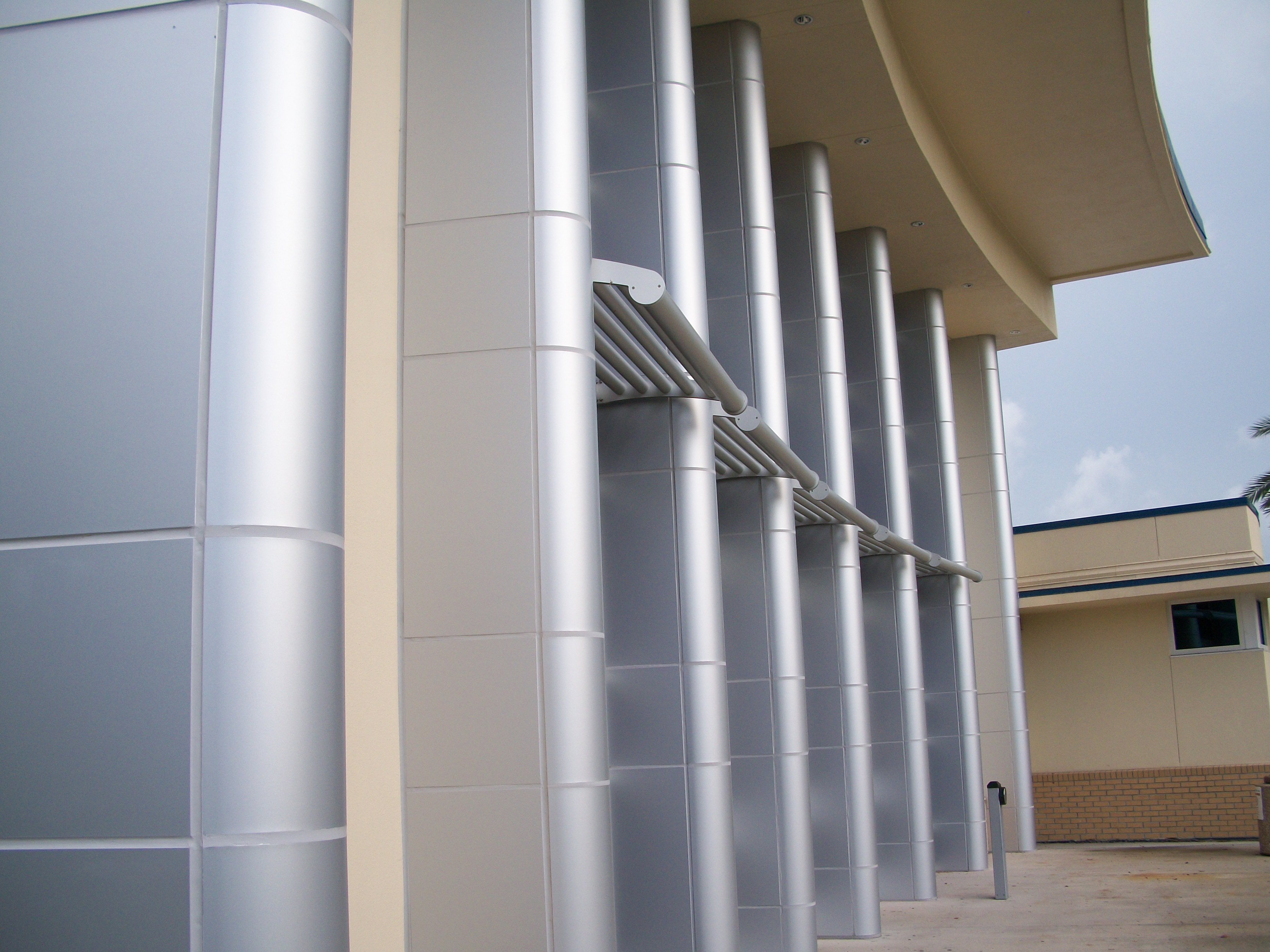 Reynobond Composite Metal Wall Panels : Neel auditorium saf southern aluminum finishing co