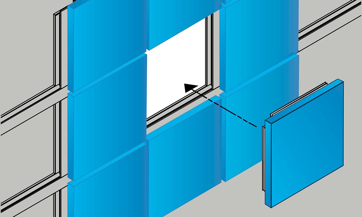 Dry Design Metal Panels : Saf simple fix a single building panel replacement kit