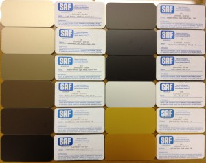 Bronze Anodizing Color Choices