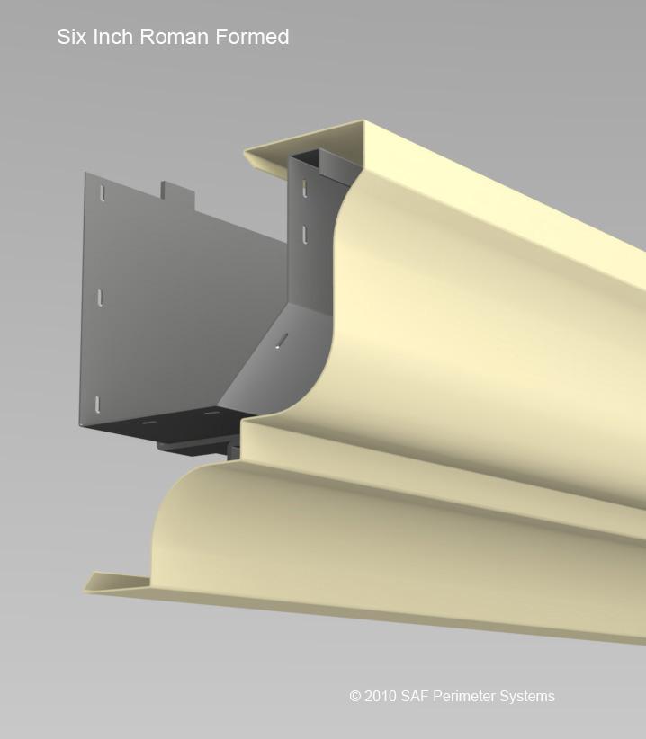 Designer series formed gutters saf fabrication saf for Gutter drainage systems design