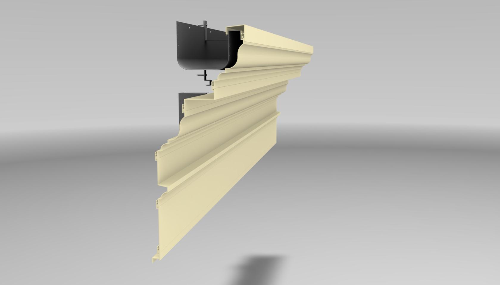 Extruded aluminum cornices saf southern aluminum finishing co cornice design 1 sciox Choice Image