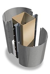 Metal column covers acm column covers beam wraps saf southern aluminum finishing co inc for Decorative metal columns exterior