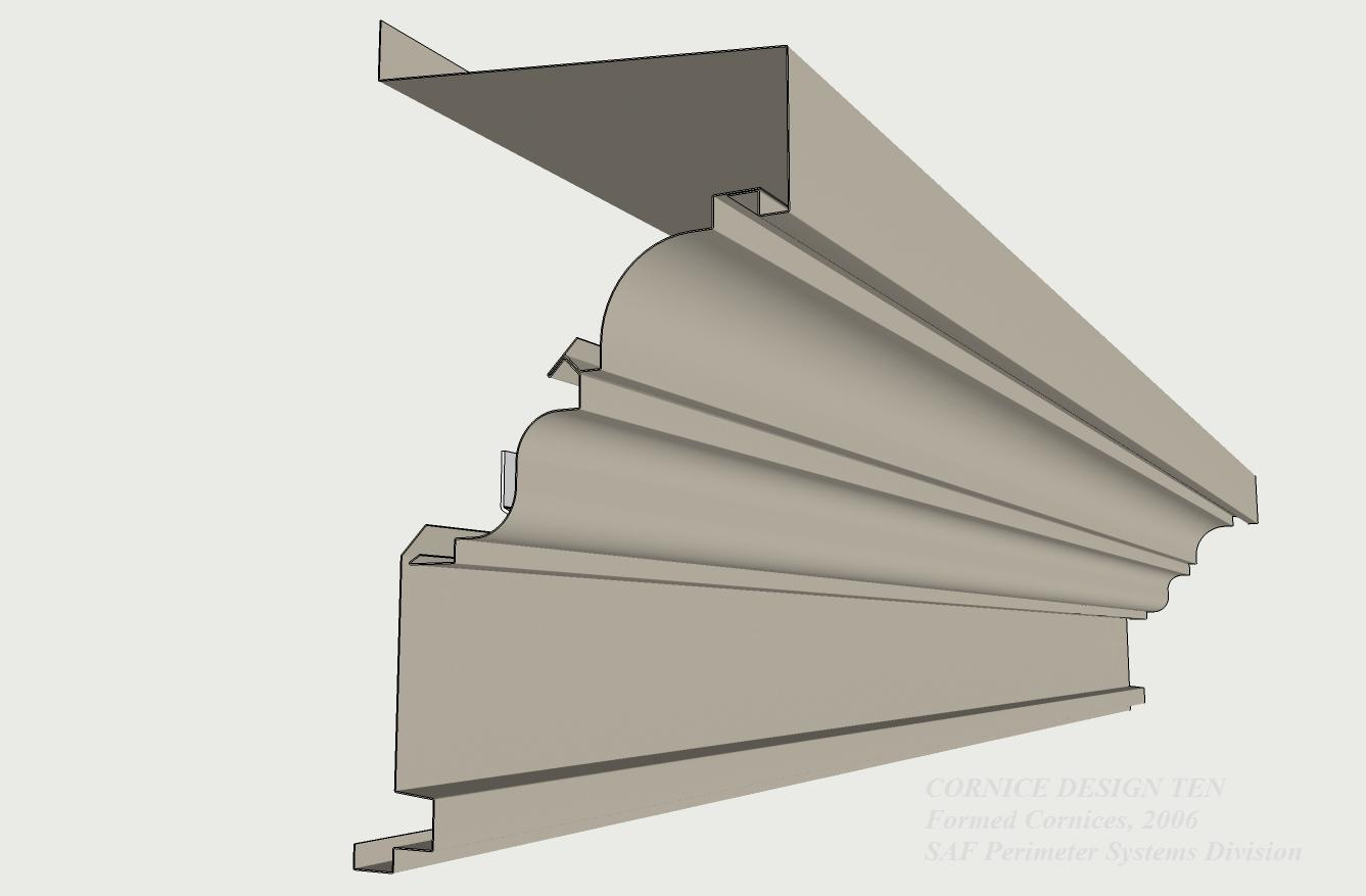 Formed Aluminum Cornices SAF Southern Aluminum Finishing Co