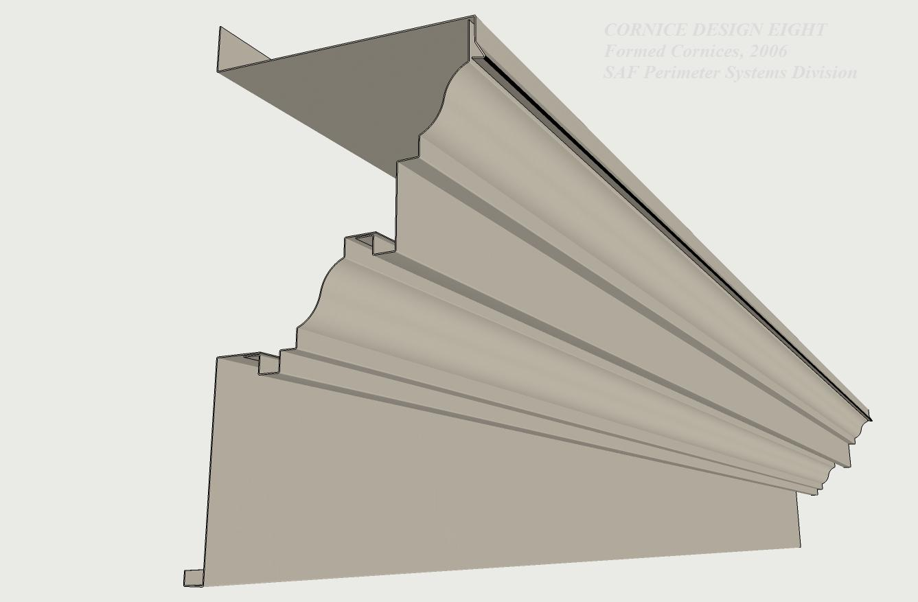 Cornice Design 8 & Formed Aluminum Cornices - SAF - Southern Aluminum Finishing Co ... memphite.com