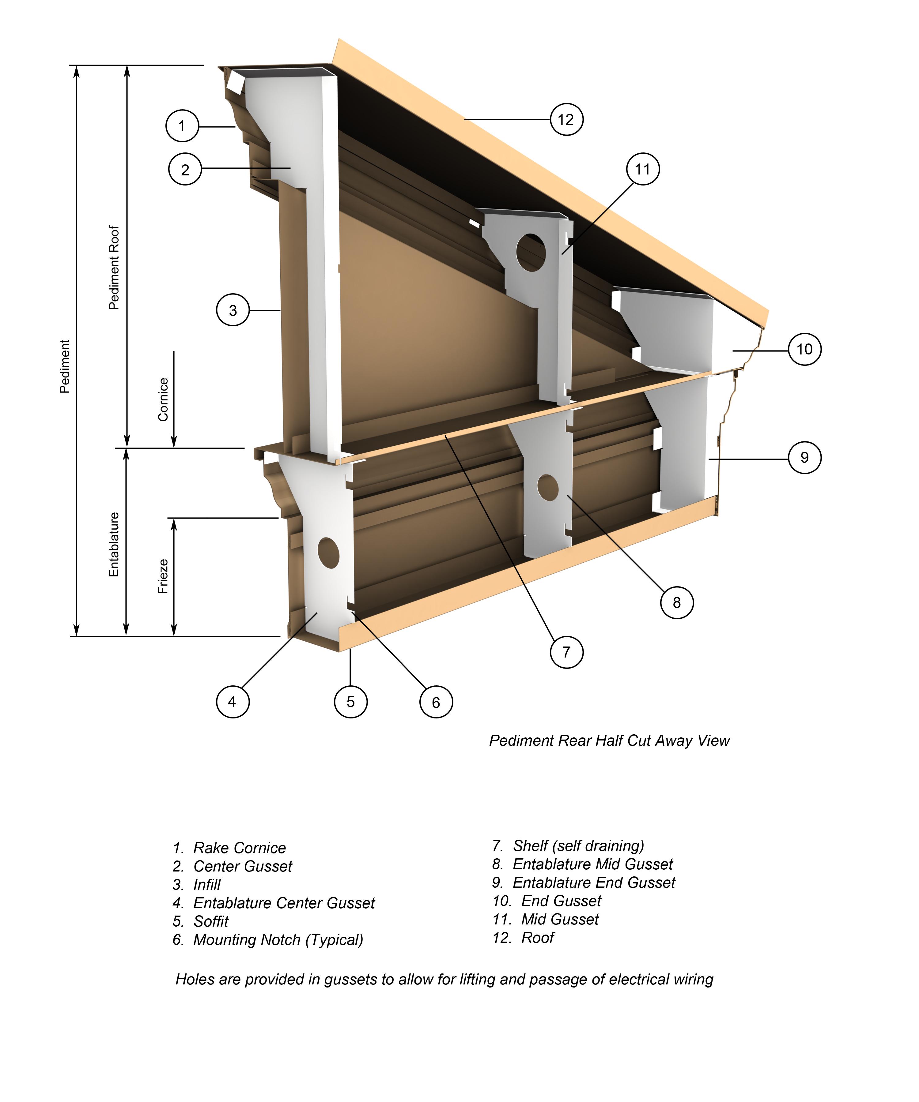 Pediments Amp Entablatures Saf Southern Aluminum